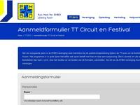 aanmeldingsformulier op website