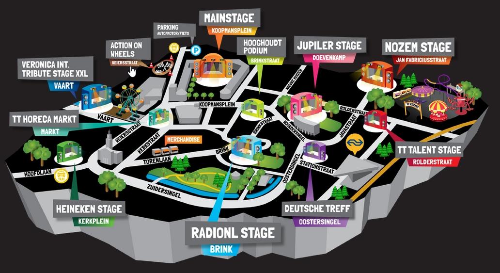 TT Festival plattegrond